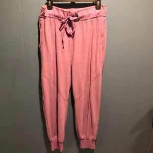 Free people movement terricloth purple joggers